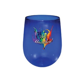 12 oz Plastic Stemless Wine Glass- Full Color Digital