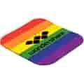 """Full Color Rubber Coaster 4 1/4"""" square"""