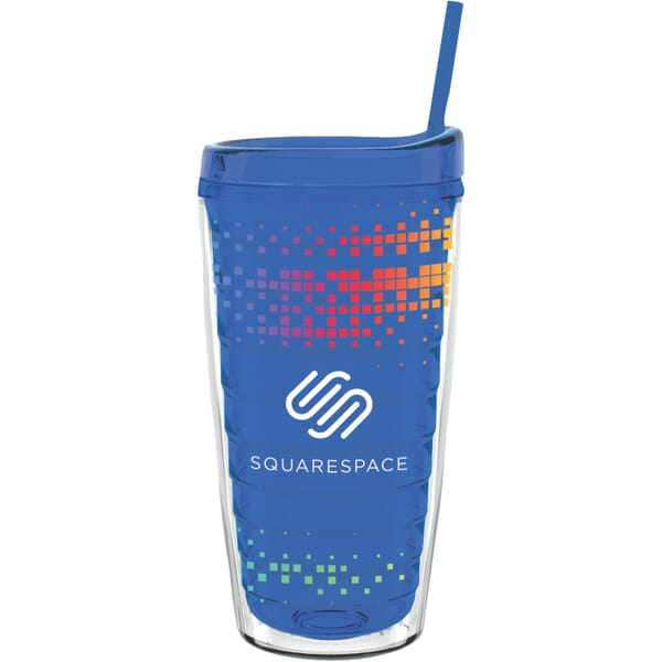 16 oz Made in the USA Tumbler w/Lid & Straw
