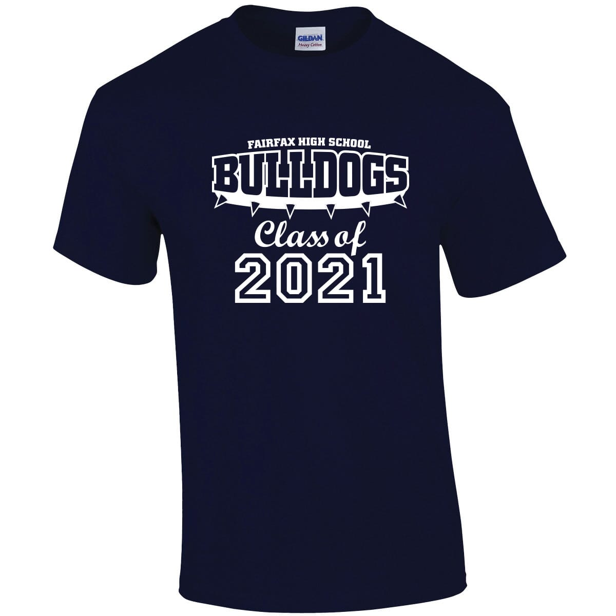 Navy t-shirt with graduation imprint