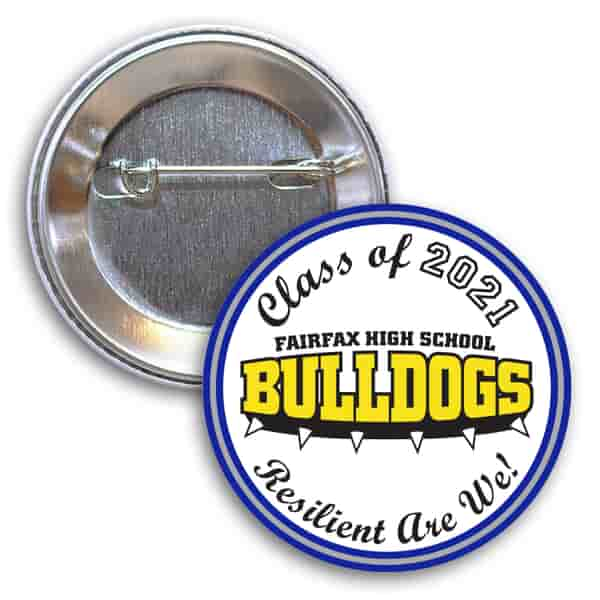 Graduation Button with Pin – Stock Art
