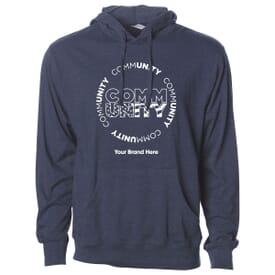 Men's Independent Trading Company Lightweight Jersey Hooded Pullover - Community