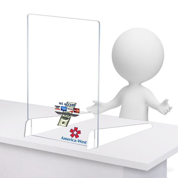 Clear Acrylic Sneeze Guard with Legs