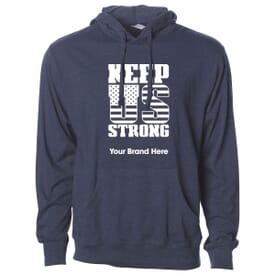 Men's Independent Trading Company Lightweight Jersey Hooded Pullover - Keep US Strong
