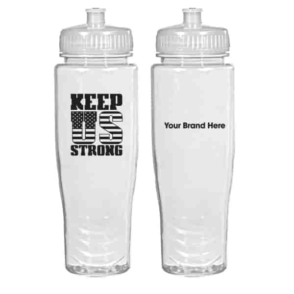 28 oz Poly-Clean™ Plastic Bottle - Keep US Strong