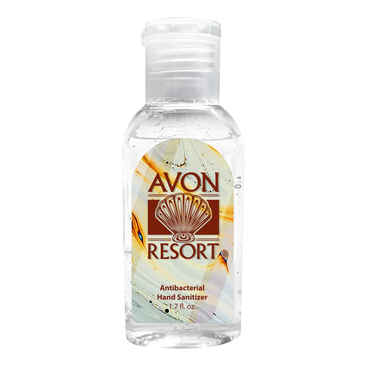 Travel size hand sanitizer with customized label