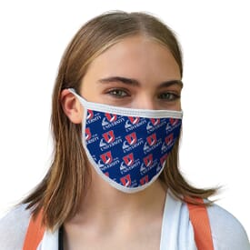 4 Ply Sublimated Polyester Face Mask - Adult and Youth