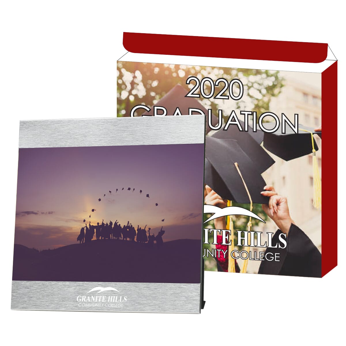 Photo frame and custom box for graduation