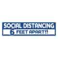 """3 3/4"""" x 15"""" Rectangle- Stay Safe Floor Decal"""