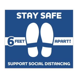 12 x 14 Rectangle- Stay Safe Floor Decal