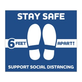 """12"""" x 14"""" Rectangle- Stay Safe Floor Decal"""