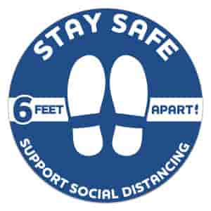 """12"""" Dia Circle- Stay Safe Floor Decal"""