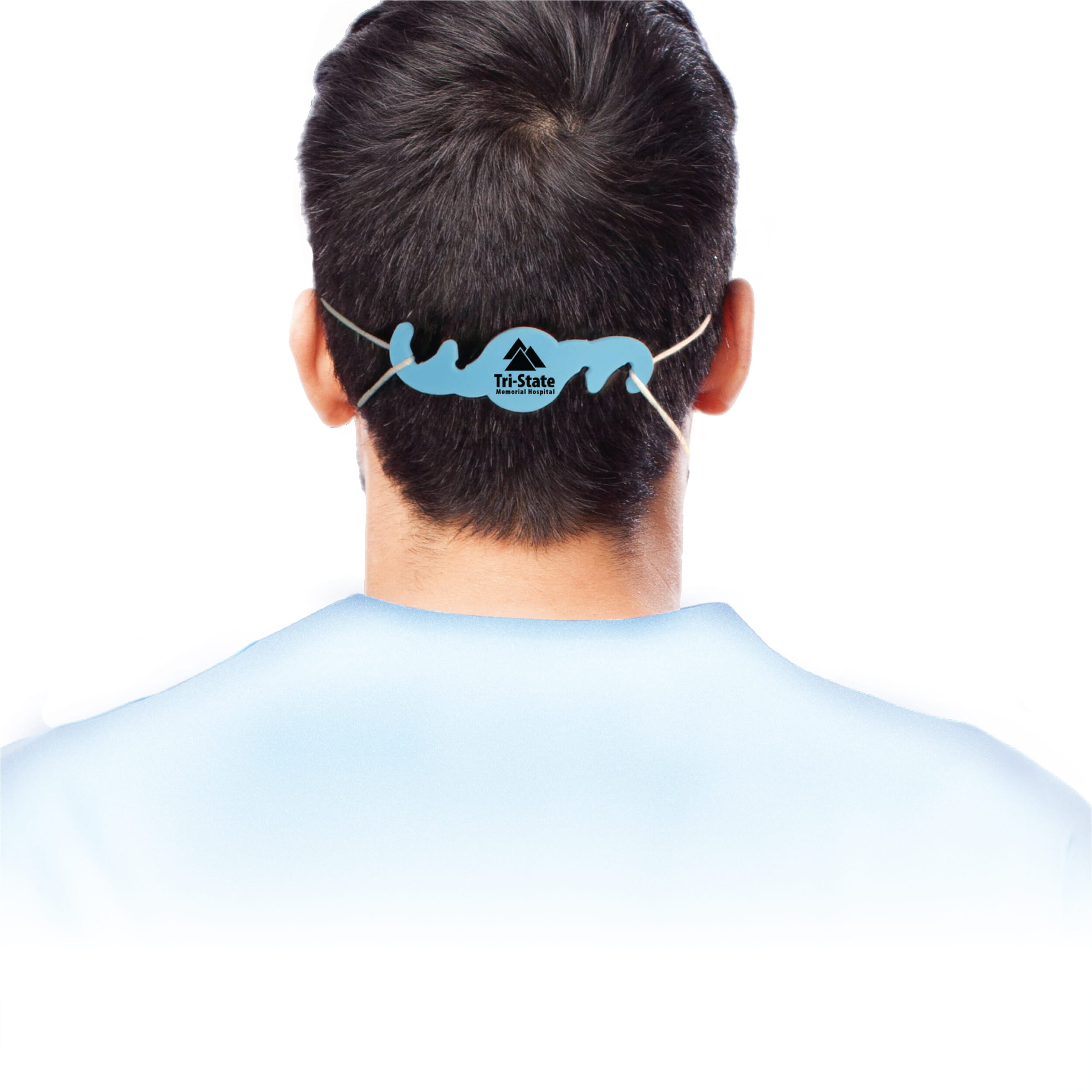 Face mask ear saver with logo