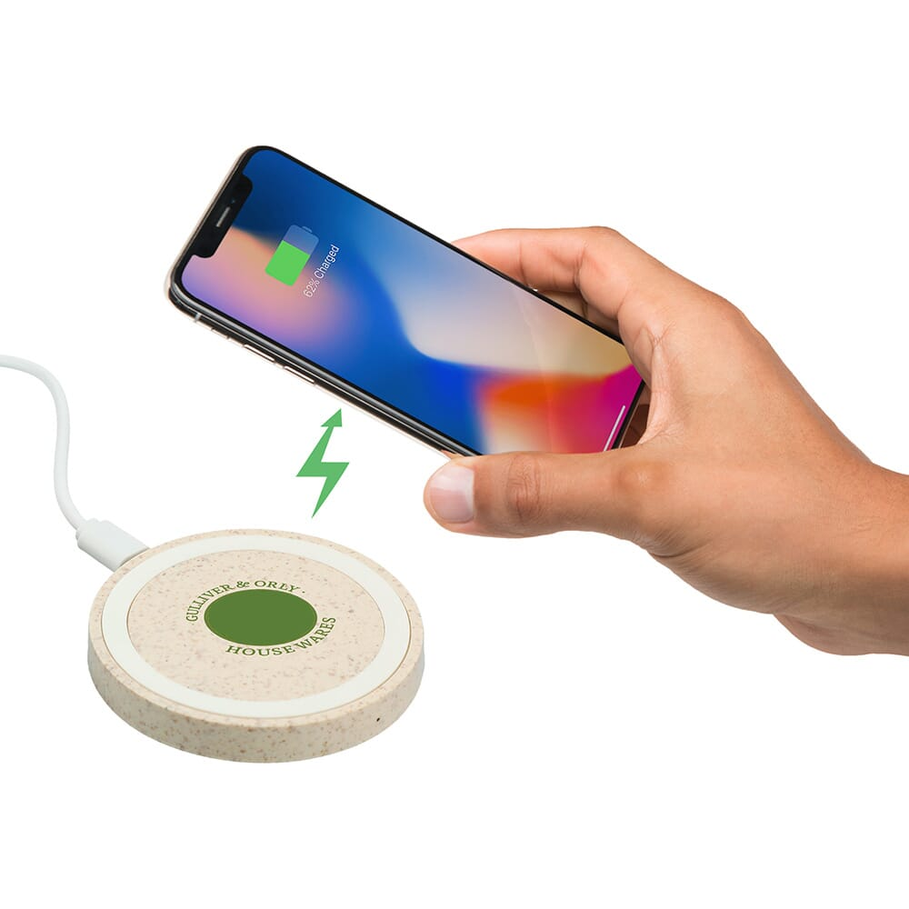 wheat straw wireless charger