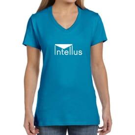 Ladies' Hanes® Nano-T® Cotton V-Neck T-Shirt