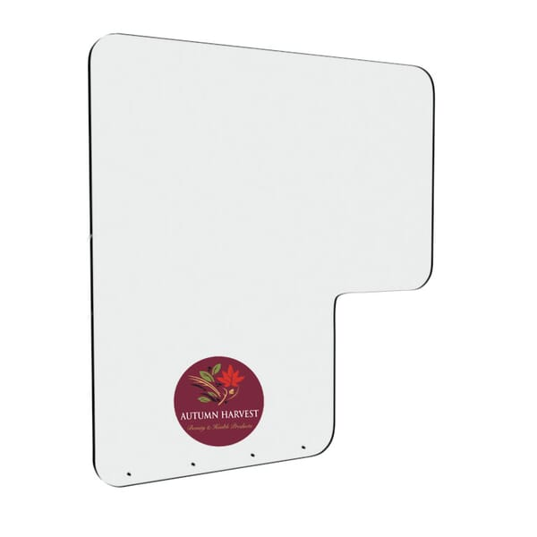 "36""W x 38""H Health Guard Shield with Cut Out"