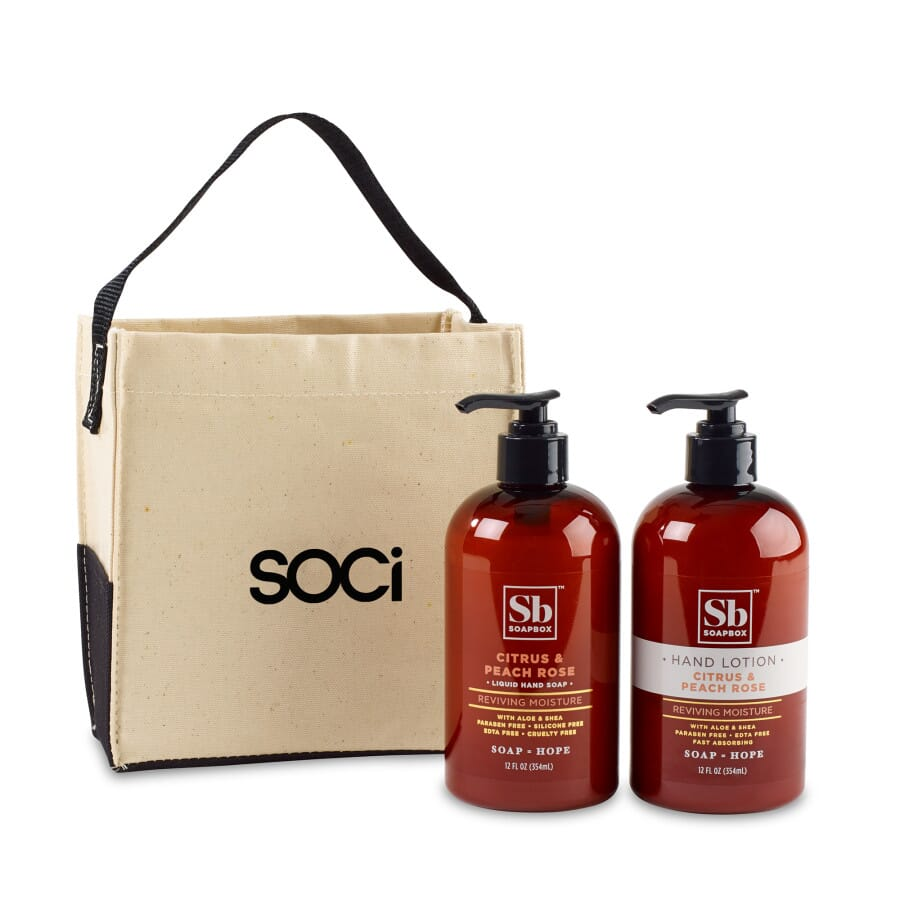 Soapbox Cleanse & Soothe Gift Set with Soap and Lotion
