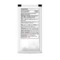Back of sanitizer packet