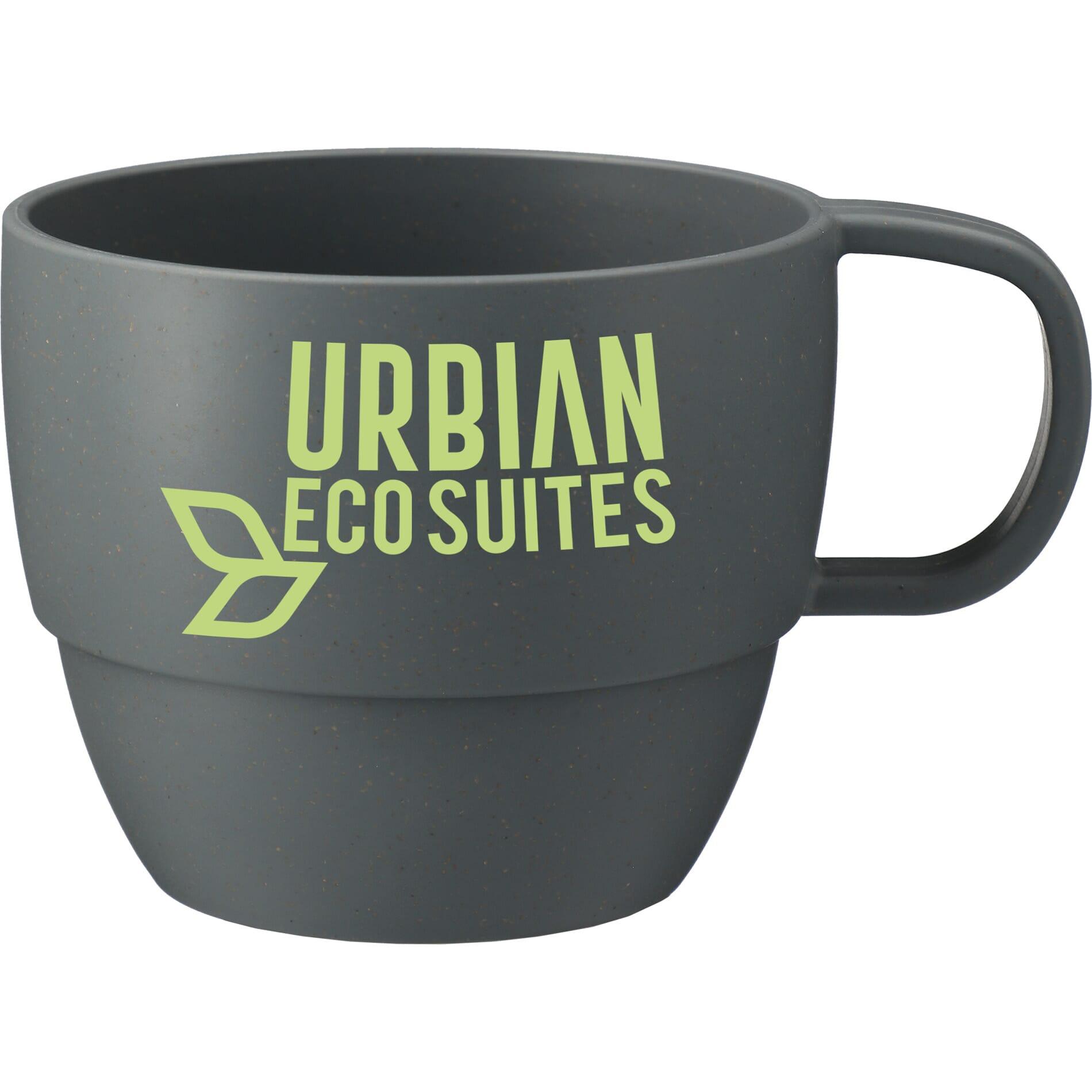 coffee mug made of sustainable wheat material