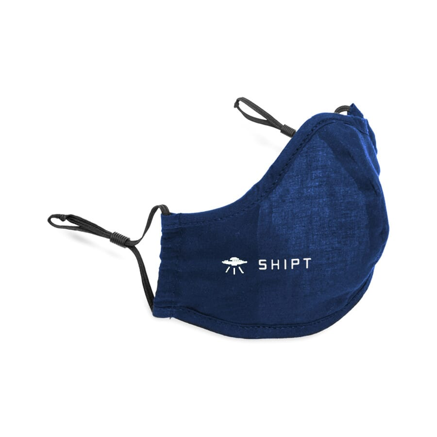 Navy blue resuable face mask