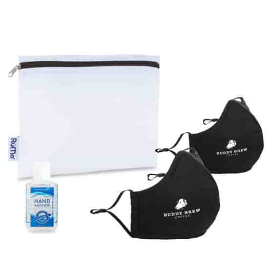 Reusable Face Mask and Hand Sanitizer Kit