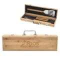 BBQ Set In Bamboo Case