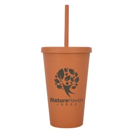 16 oz Newport Wheat Travel Tumbler