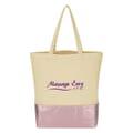 12 oz Cotton Metallic Accent Tote Bag