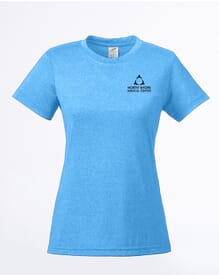 Ladies' UltraClub® Cool & Dry Heathered Performance T-Shirt