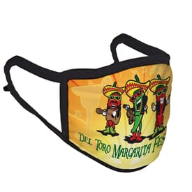 Sublimated 3-Ply Polyester Face Mask with Adjustable Ear Loops