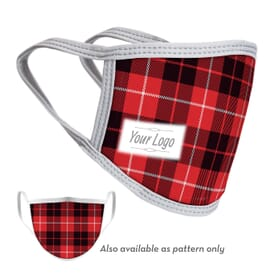 2-Ply Reusable Holiday Face Mask with Logo - Adult and Youth