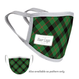 4-Ply Reusable Holiday Face Mask with Logo - Adult and Youth