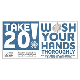 Take 20! Wash Your Hands Stickers with Logo