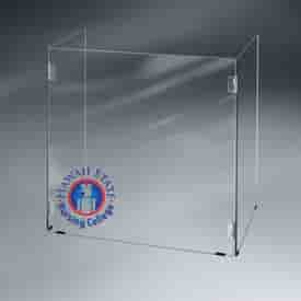 Tabletop Hinged Barrier Sneeze Guard