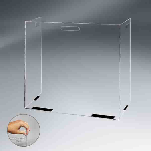 Foldable Portable Tabletop PETG Barrier