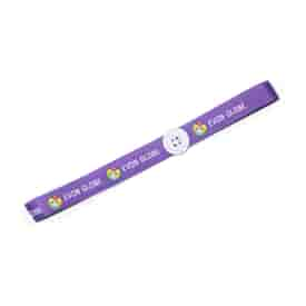 """Elastic Stretch Headband 3/4"""""""" with Buttons for Mask Loops"""