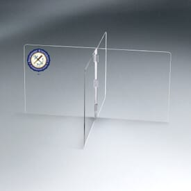 Large Interlock 4 Panel Tabletop Partition