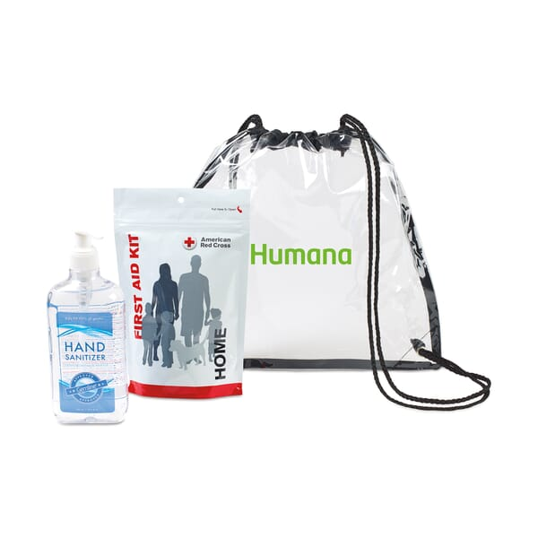 American Red Cross Home First Aid Zip Kit and Hand Sanitizer Bundle
