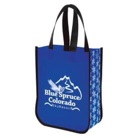 Snow Flurry Laminated Non-Woven Tote Bag