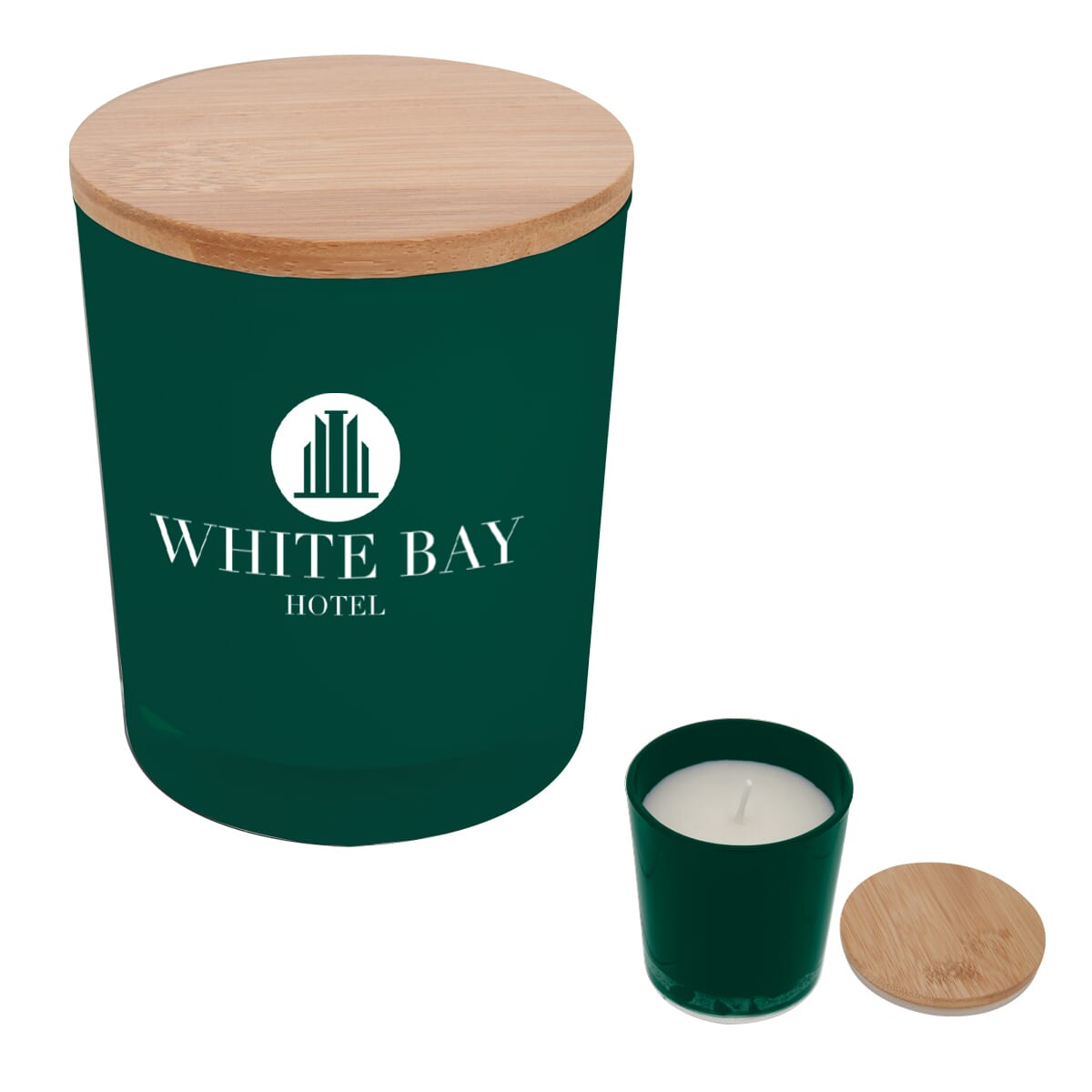 Personalized Bamboo Soy Candle