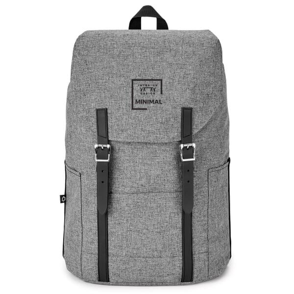 Aqua flip-top backpack