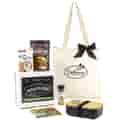 Black bento box and bag imprinted