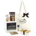 White bento box and bag imprinted