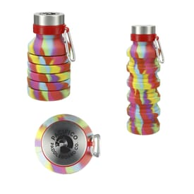 18 oz Zigoo Silicone Collapsible Bottle - Tie Dye