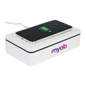 15W Wireless Charger & Sanitizer Box