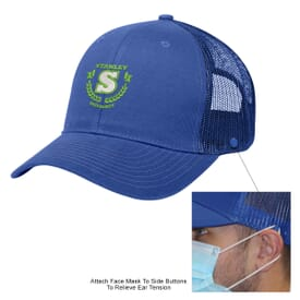 Cotton Twill Mesh Back Mask Cap