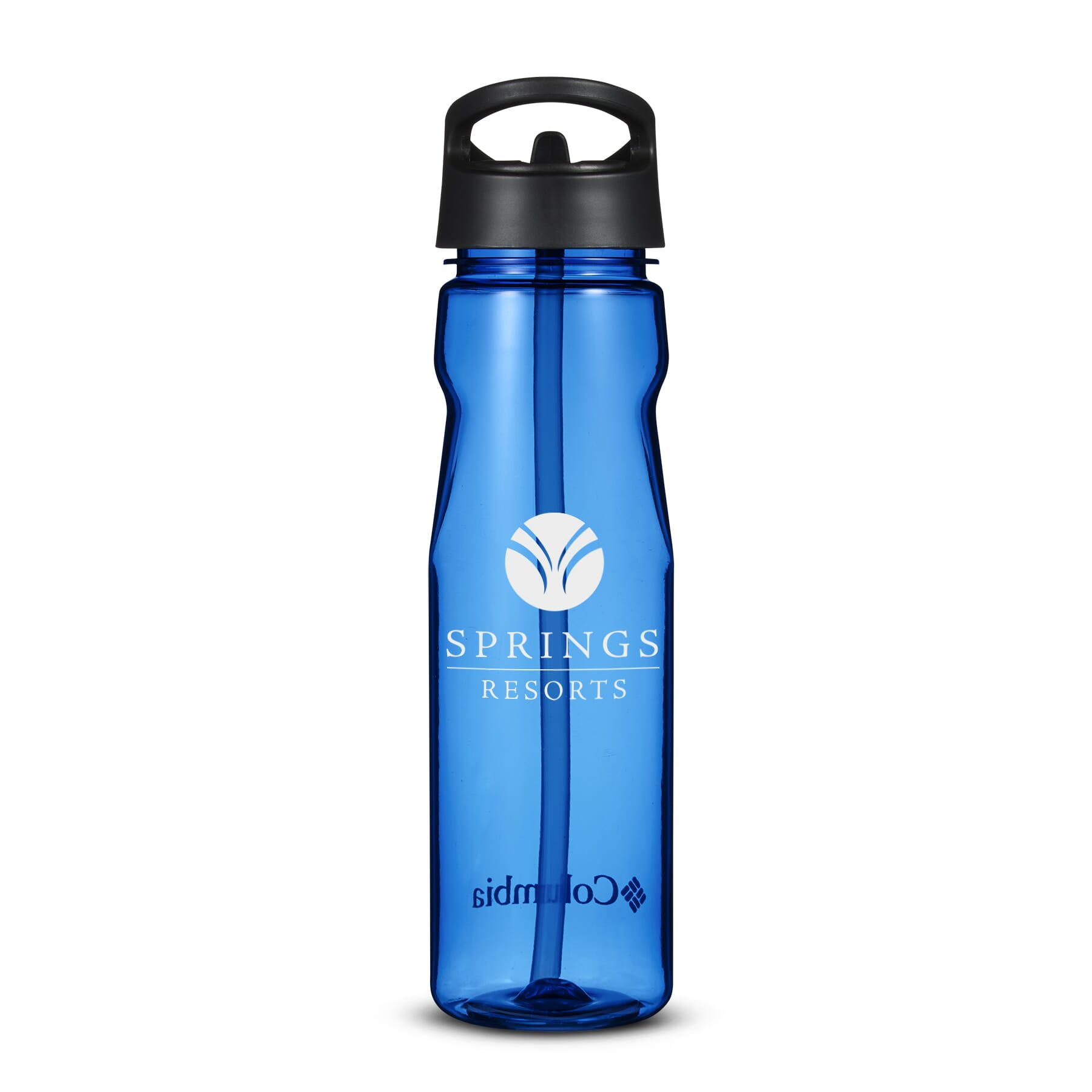 Customized royal blue water bottle