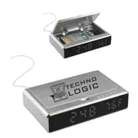 UV Sanitizer Desk Clock w/ Wireless Charging