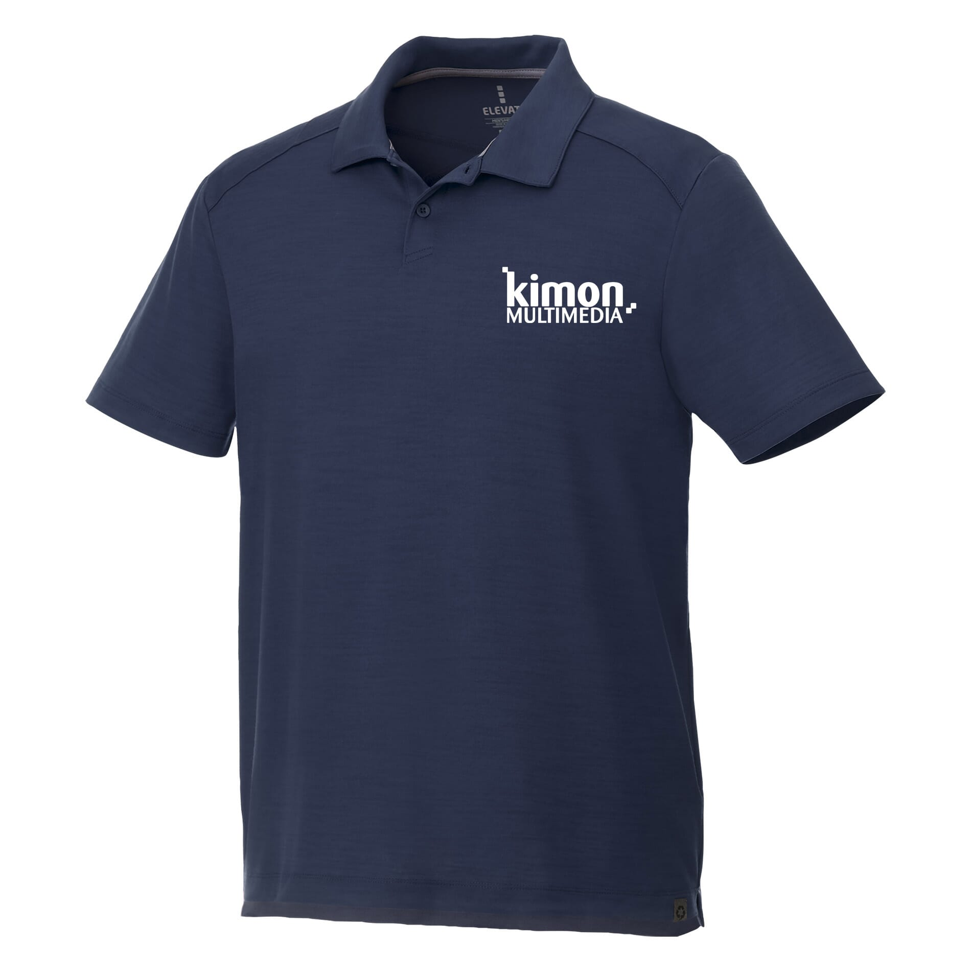 navy blue recycled polo