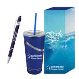 Incline Tumbler & Pen with Custom Box